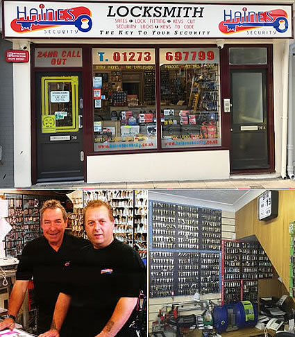Haines Security Shop. 76 St James's Street Brighton BN2 1PA